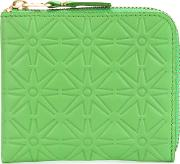 Star Embossed Wallet Men Leather One Size, Green
