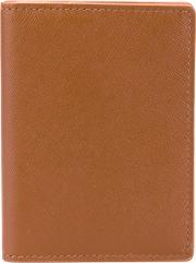 Fold Out Wallet Men Calf Leather One Size, Brown