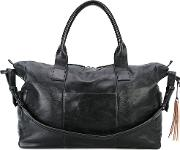 Weekender Holdall Unisex Calf Leather One Size, Black