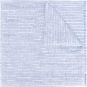 Striped Scarf Men Linenflaxsilk One Size, Blue