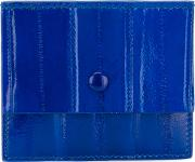 Rose Cardholder Women Eel Skin One Size, Blue