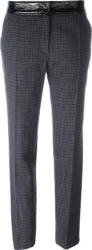 Houndstooth Trousers Women Cottonpolyurethanecuprowool 34, Blue