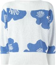 Courreges Vintage Flower Jacquard Sweater
