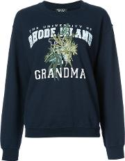 Embroidered Sweatshirt Unisex Cotton