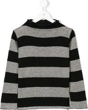 Cucu Lab Striped Jumper Kids Cottonacrylicviscosewool 6 Yrs, Black