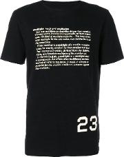 Cy Choi Dictionary Print T Shirt Men Cotton L, Black