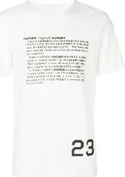 Cy Choi Dictionary Print T Shirt Men Cotton S, White