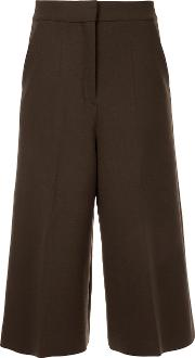 Cyclas Cropped Trousers Women Polyurethanecuprowool 36, Brown