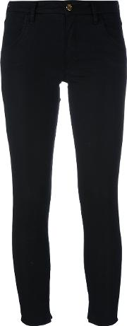 Skinny Cropped Trousers Women Cottonspandexelastane 30, Black