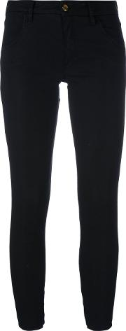 Skinny Cropped Trousers Women Cottonspandexelastane 32, Black