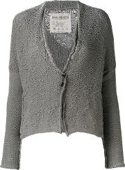 Knit Cardigan Women Cottonlinenflax S, Grey