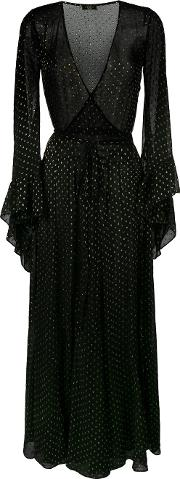Oswalda Sheer Lurex Polka Dot Dress