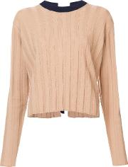 Bicolored Pullover With D Ring Back Detail Women Polyeterpandexelatanevicoe