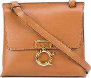 Flap Crossbody Bag Women Nappa Leather One Size, Brown