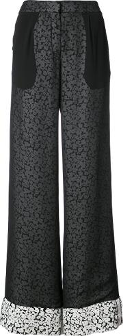 Derek Lam Double Layer Pant With Foldover Cuff Women Silk 38, Black