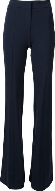 Flared Leg Trousers Women Viscosepolyamidespandexelastane 44, Black