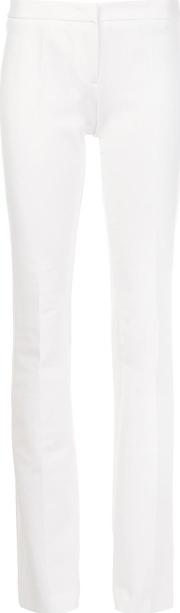 Flared Trousers Women Viscose 46, White