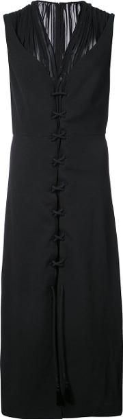 Sleeveless Layered Dress With Lacing Detail