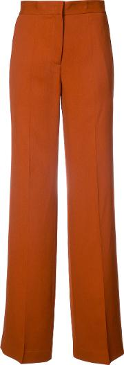 Wide Leg Trousers Women Viscose 40, Brown