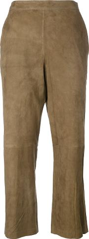 1972 Suede Cropped Trousers Women Suede 2, Brown