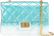 Degrade 'milano' Quilted Shoulder Bag Women Pvc One Size, Blue
