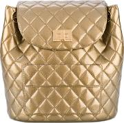 Quilted Backpack Women Pvc One Size, Grey