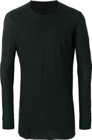 Devoa Twisted Seam T Shirt Men Cotton 4, Black