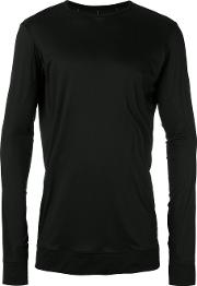 Long Sleeved T Shirt Men Silkrayon 2, Black