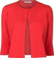 D.exterior Cropped Cardigan Women Polyesterwool M, Red