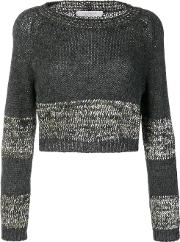 D.exterior Cropped Jumper Women Nylonpolyesterwoolkid Mohair S, Grey