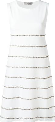 D.exterior Embroidered Trim Dress Women Acrylicpolyesterpolyurethanepolyimide Xxl, White