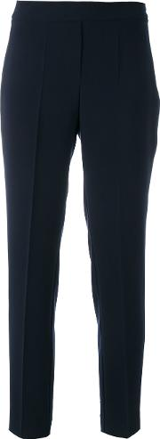 D.exterior Tailored Trousers Women Polyester 48, Blue