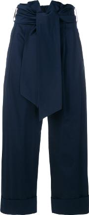 High Rise Cropped Trousers