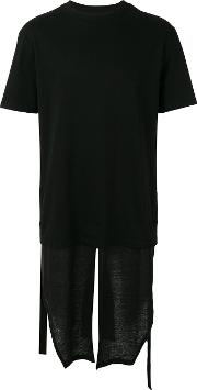 D.gnak Layered Long T Shirt Men Cotton 48, Black