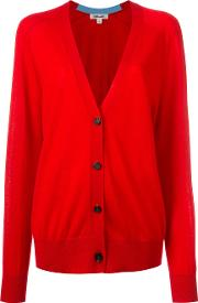 Cashmere Button Up Cardigan Women Cashmere Xs, Red