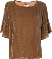 Diega Turina Blouse Women Silkviscose S, Brown