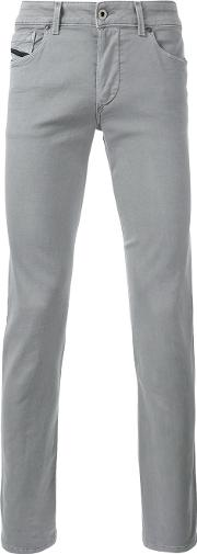 Tapered Trousers Men Cottonpolyesterspandexelastane 36, Grey
