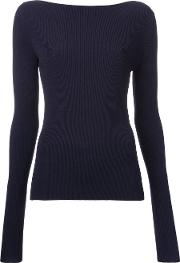 Dion Lee Pinacle Knitted Blouse Women Viscose 8, Blue