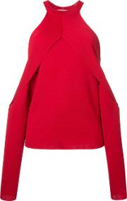 Sleeve Release Evening Blouse Women Rayon 10, Red