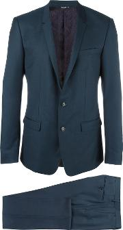 Gold Mirror Revers Suit Men Cuproviscosevirgin Wool 54, Blue