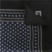 Patterned Pocket Square Men Silk One Size, Black