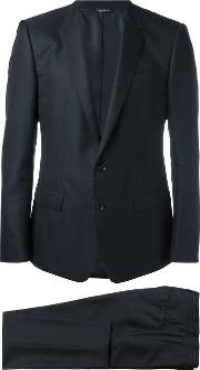 Patterned Suit Men Silkacetatecuprovirgin Wool 52, Blue