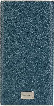 Portable Iphone Charger Men Calf Leatheraluminium One Size, Blue
