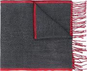 Dondup Tasseled Scarf Men Virgin Wool One Size, Grey