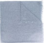 Frayed Scarf Men Viscosecashmere One Size, Grey