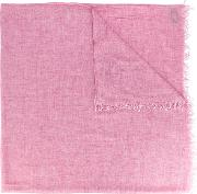 Frayed Scarf Men Viscosecashmere One Size, Pinkpurple