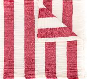 Striped Scarf Men Cotton One Size, Red