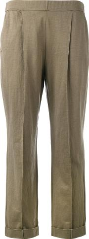 Slouch Trousers Women Cottonpolyamide 1, Brown