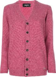Dsquared2 Oversized Long Sleeve Cardigan Women Wool S, Red