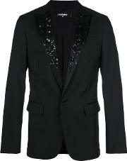 Embroidered Floral Tuxedo Jacket
